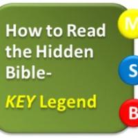How to Read the Hidden Bible- KEY Legend
