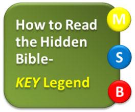 How to Read the Hidden Bible- KEY Legend | SOulBLINDministry com
